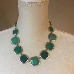 4 for $12: Green & Gold Tone Statement Necklace